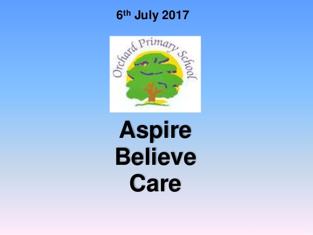 6th July 2017 Aspire Believe Care