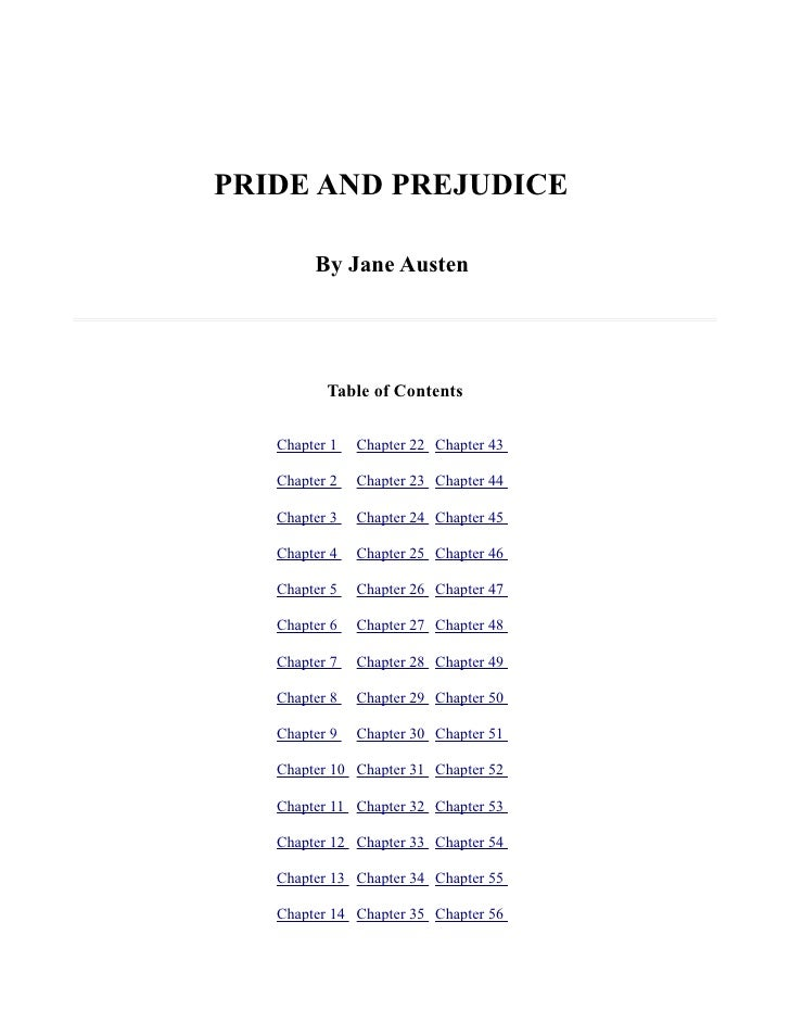 pride and prejudice research paper thesis