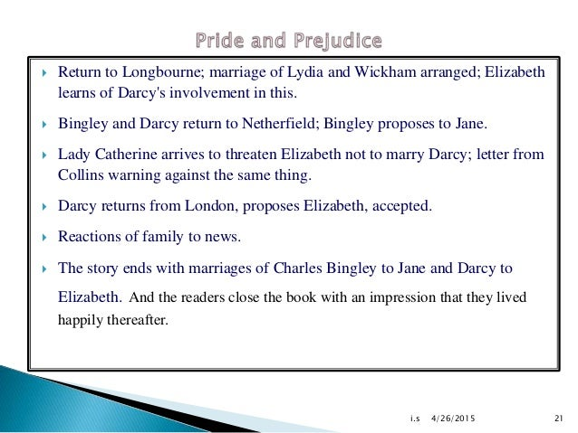 a brief summary on pride and prejudice by jane austin Representation of female characters in jane austen's pride and prejudice    as is indicated by its title, the plot of jane austen's novel emma revolves around .