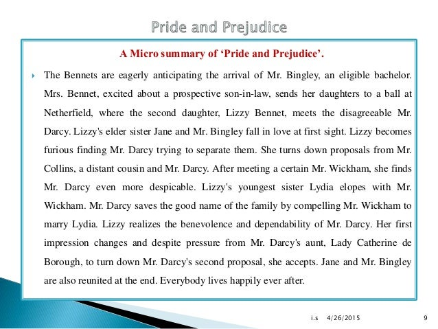 an overview of the concept of pride and prejudice a novel by jane austen According to family tradition, jane austen began writing first impressions, the novel we know today as pride and prejudice, in october 1796 at the age of 20.
