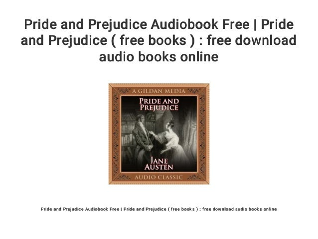 free audio books online pride and prejudice