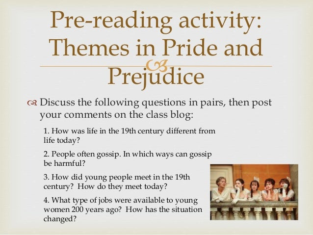 a summary of womans role in society in pride and prejudice by jane austen Pride and prejudice: the status of women  jane austen's pride and prejudice is a light story about love  the people she lived with and the society she.