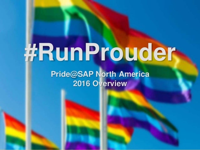 #RunProuder Pride@SAP North America 2016 Overview