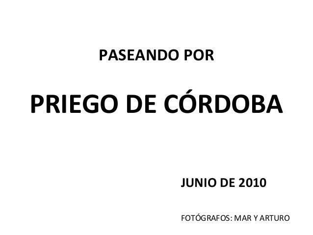 PASEANDO POR PRIEGO DE CÓRDOBA JUNIO DE 2010 FOTÓGRAFOS: MAR Y ARTURO