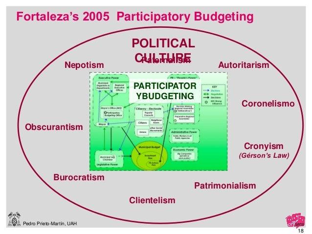 Pedro Prieto-Martín, UAH Clientelism Paternalism Patrimonialism Nepotism Burocratism Obscurantism Autoritarism Coronelismo...