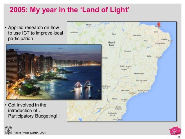 Pedro Prieto-Martín, UAH 2005: My year in the 'Land of Light' 3 • Applied research on how to use ICT to improve local part...