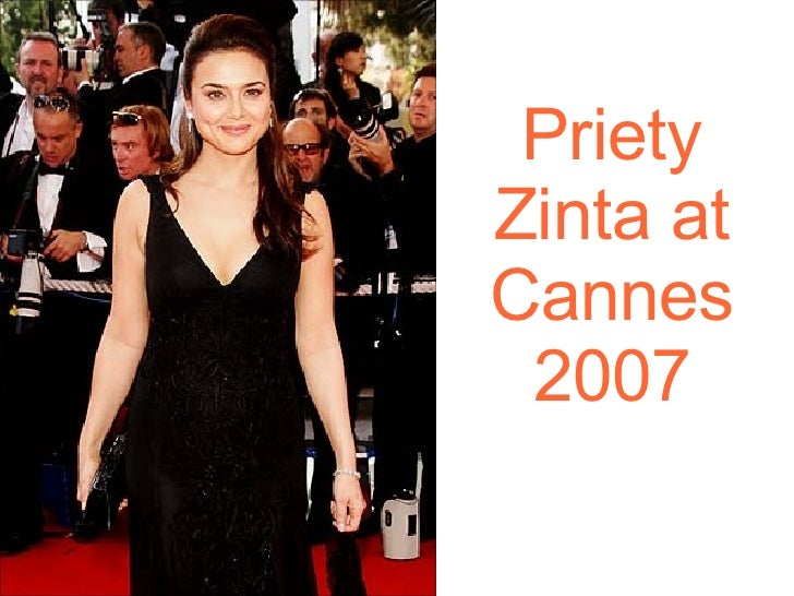 Priety Zinta at Cannes 2007