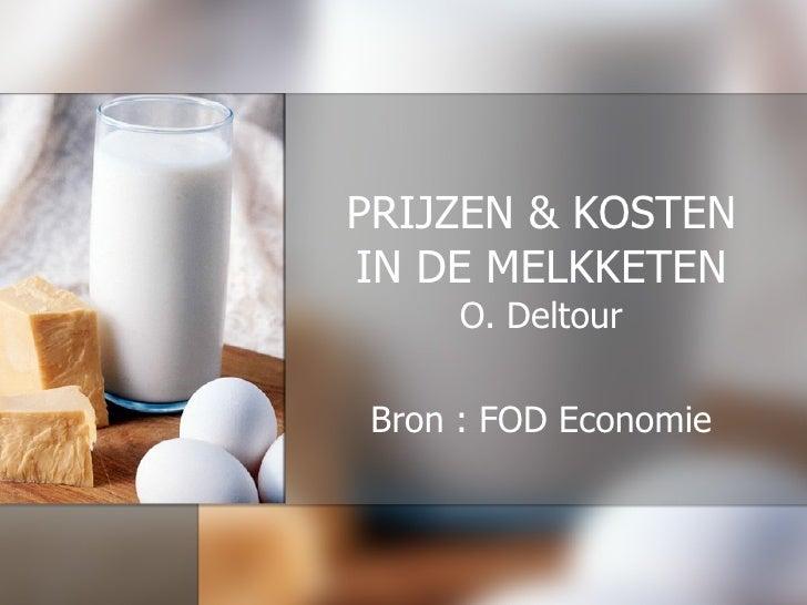 PRIJZEN & KOSTEN IN DE MELKKETEN O. Deltour Bron : FOD Economie