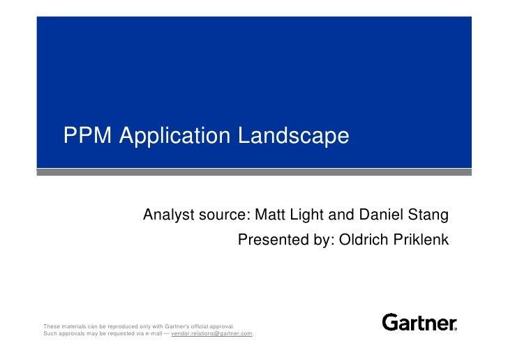 PPM Application Landscape                                     Analyst source: Matt Light and Daniel Stang                 ...