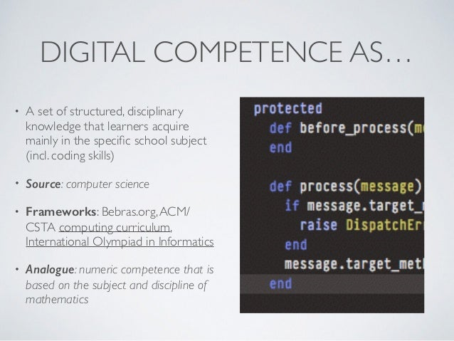 frameworks and models of digital competence