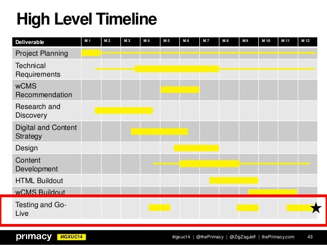 Igxuc14 high level timeline 43 for High level project plan template ppt
