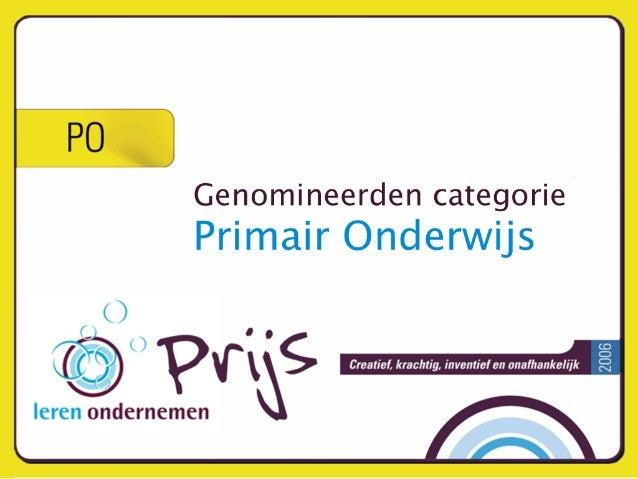 Primair Onderwijs - Leren Ondernemen Prijs - Nominaties