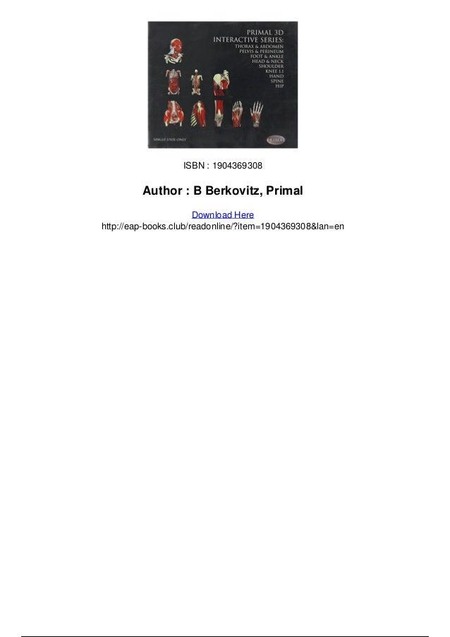 Primal 3d interactive series complete human anatomy pdf