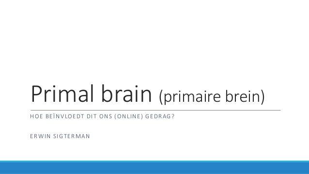 Primal brain (primaire brein) HOE BEÏNVLOEDT DIT ONS (ONLINE) GEDRAG? ERWIN SIGTERMAN