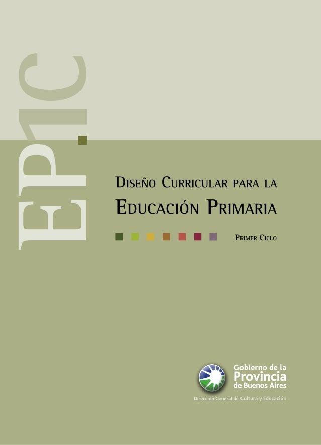 dise o curricular para la educaci n primaria primer ciclo ForDiseno Curricular Primaria