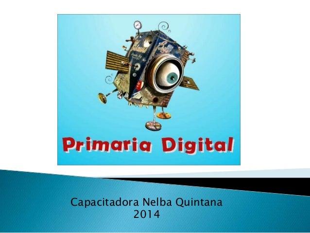 Capacitadora Nelba Quintana 2014