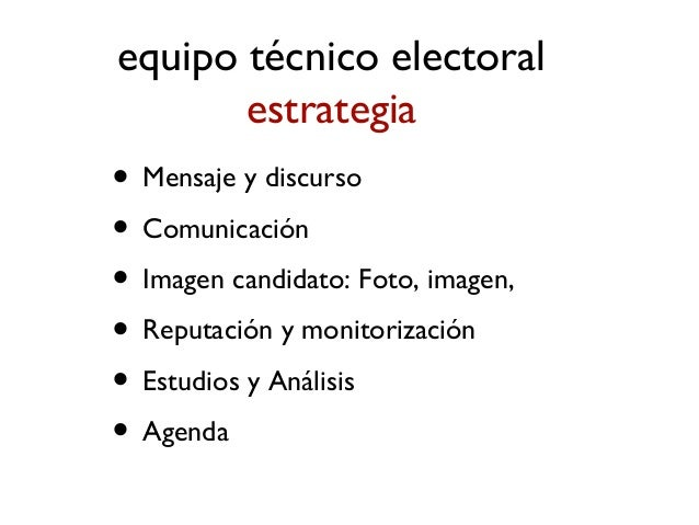 equipo político organización • Responsable político de organización y programa • Equipos de apoyo temáticos • Equipos de a...
