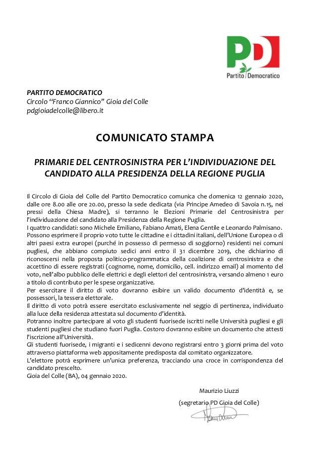 """18ottobre2017  PARTITODEMOCRATICO  Circolo""""FrancoGiannico""""GioiadelColle  pdgioiadel..."""