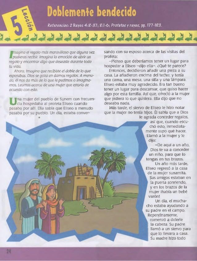 Doblemente bendecido Referencias: 1 Reyes 4:£-37; £:l-6; Profetas y reyes, pp. I77-!?3. ¡U J«í -i sando con su esposo acer...