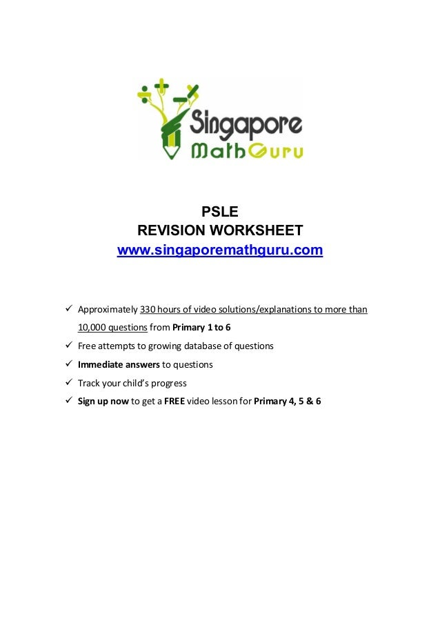 Primary 6 Math Revision, Questions & Tuition