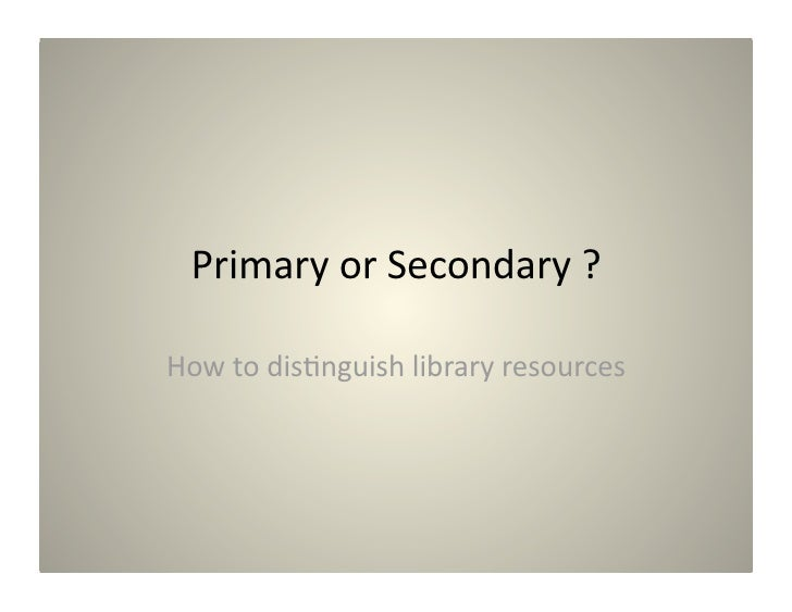 Primary