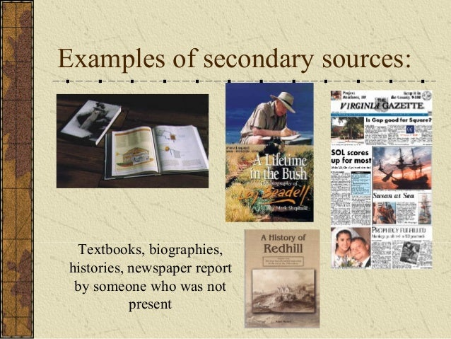 secondary sources A guide to help users create citations using apa (american psychological association) style, 6th edition.