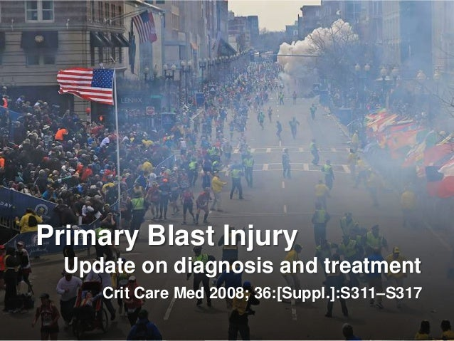 Primary Blast InjuryUpdate on diagnosis and treatmentCrit Care Med 2008; 36:[Suppl.]:S311–S317