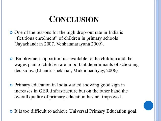 importance of universal primary education