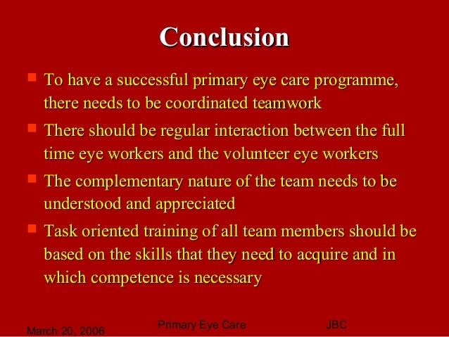primary eye care Aravind eye care system is the largest eye care centre in the world, treating over   who can afford to pay the full cost of care come to us because our service is.