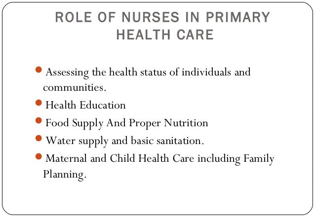 Nurses roles and personal health records