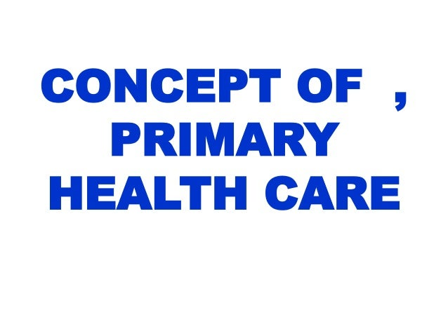 Primary health care (phc) became a