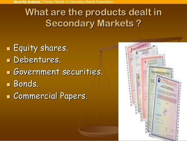 primary market vs secondary market pdf