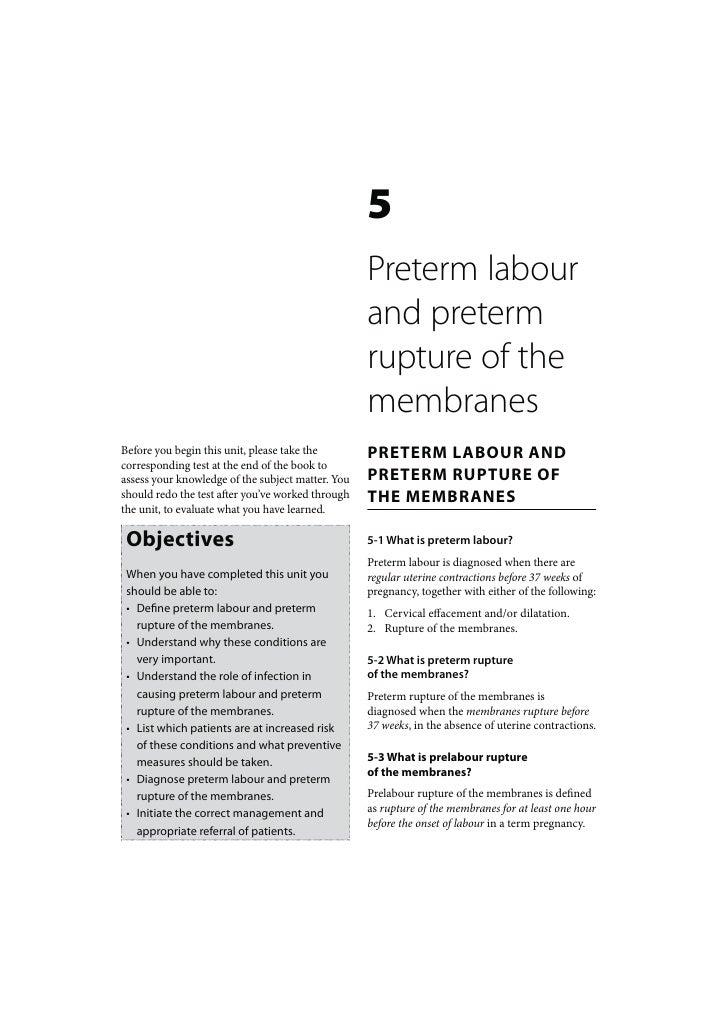 5                                                   Preterm labour                                                   and p...