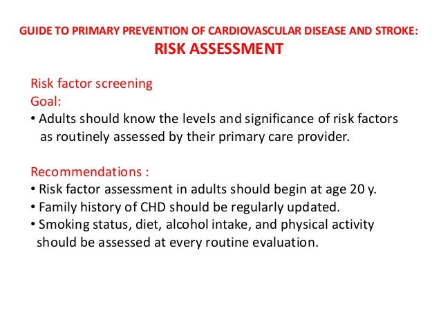 Heart and Stroke Prevention and Control