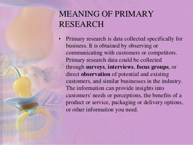 method of primary research What is the difference between primary research and secondary research primary research is by the researcher in secondary research he relies on other.