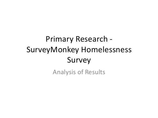 Primary Research - SurveyMonkey Homelessness Survey Analysis of Results