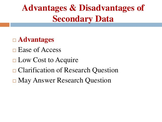 advantages and disadvantages of secondary market