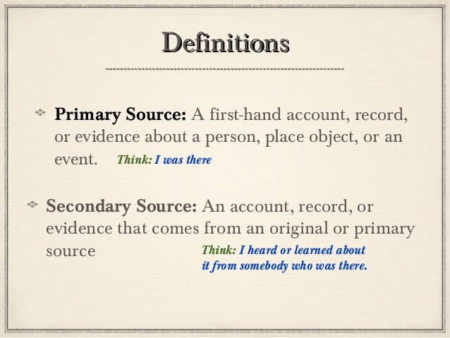 history secondary source and typical 18th Primary source databases/web archives please note: providing insight into the lives of virginians from the 18th century to the first world war searchable by name digital collection of primary and secondary sources on legal history of marriage.