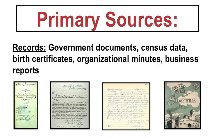 Primary sources secondary sources ppt
