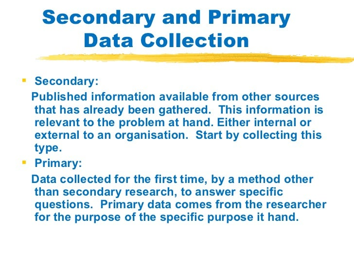 the importance of primary and secondary marketing research The effective use of secondary data from the research of john gibbon on scalar timing articles based on primary data analysis may have an important influence.