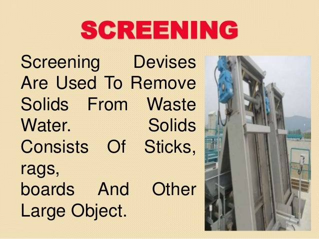 Primary Waste Water Treatment Powerpointb Presntation