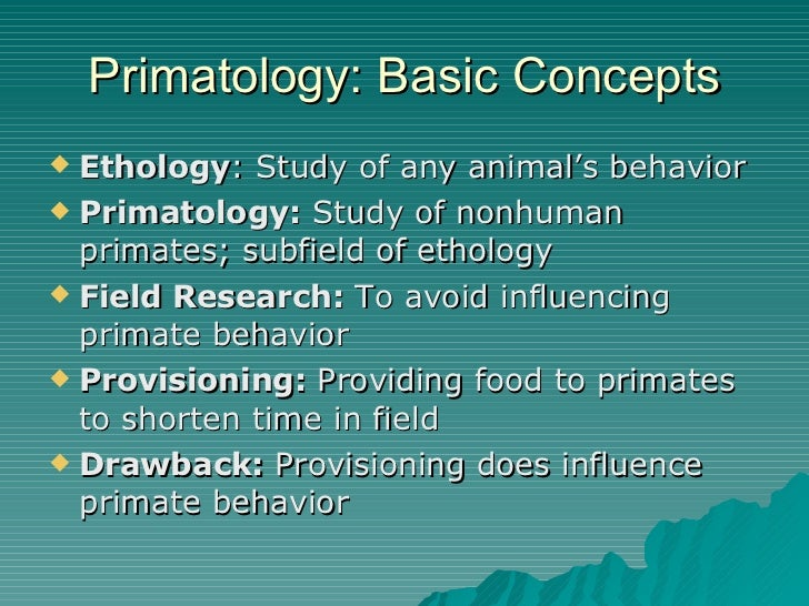 primate behavior research Offering selected research resources about primates, this bibliography touches upon various primate behaviors and adaptations to their ecology.