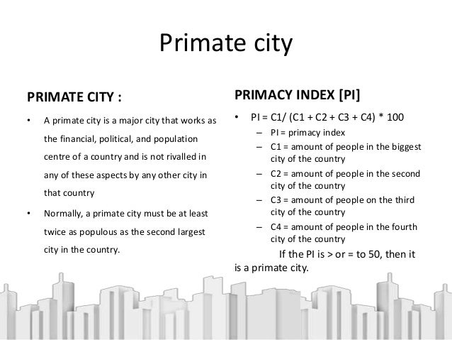 List of primate cities