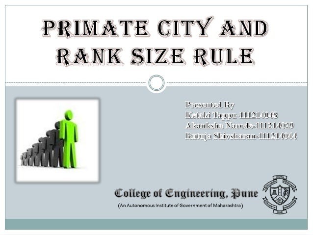 STRUCTURE OF THE PRESENTATION  Definitions  Law Of Rank Size Rule ( By Mark Jefferson) Law Of Primate City ( By C.P.Zipf)...