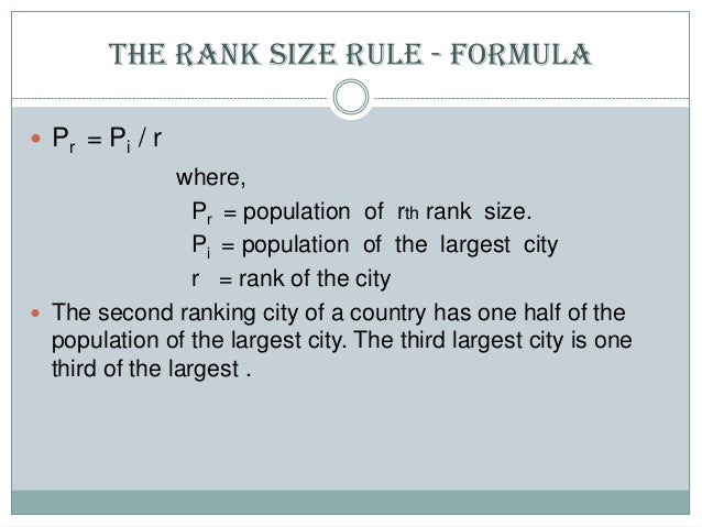 Primate city and Rank Size Rule