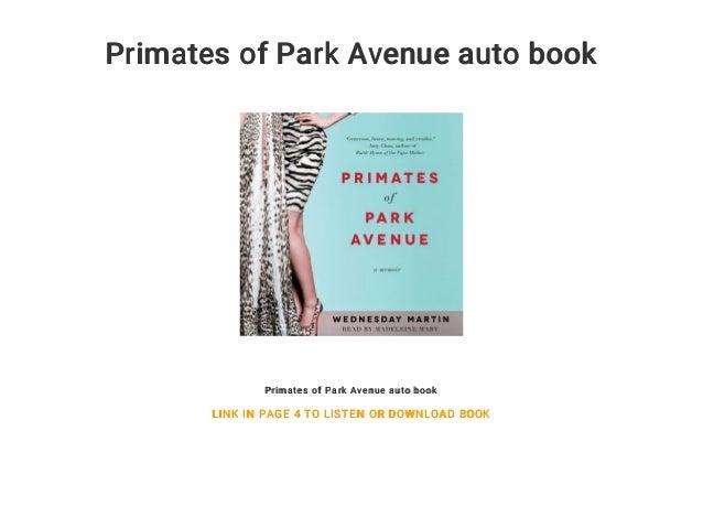 Park Ave Auto >> Primates Of Park Avenue Auto Book