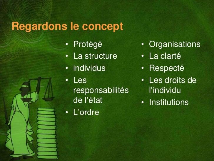 Regardons le concept         • Protégé           • Organisations         • La structure      • La clarté         • individ...