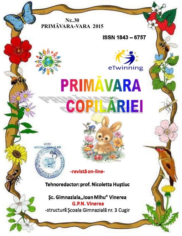 Nr..30 PRIMĂVARA-VARA 2015