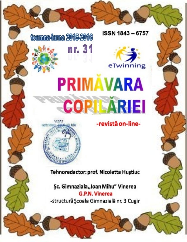 Primavara Copilariei Nr 31 Toamna Iarna 2015 2016