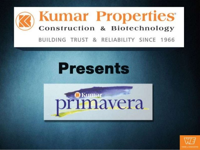 Kumar PrimaveraNestled cozily in the lush green environs, 'Kumar Primavera' offers beautiful, modern homeslocated in one o...